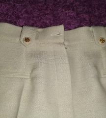 Vintage bež pantalone, dubok struk