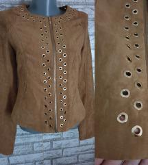 NOVA Braon/Kamel jakna sa etiketom