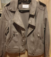 Siva jakna od prevrnute koze RESERVED