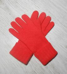 Divne crvene rukavice VUNA/ANGORA NOVE