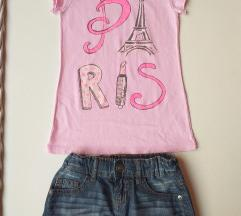 Beneton suknjica i majica