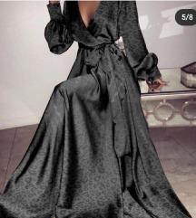 Dugacka satenska haljina