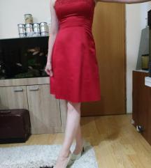 Crvena saten haljina c@a S