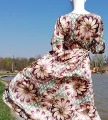 Duga letnja satenska haljina ( etiketa )