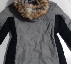 Sivo crna zimska jakna  vel. 38 - kao nova