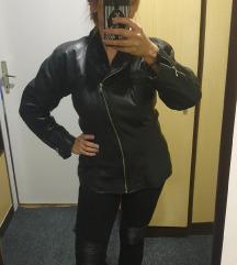 Kožna jakna sa astraganom