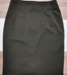 Maslinasto zelena H&M suknja