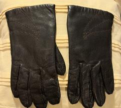 Braon postavljene kožne rukavice! Made in Italy