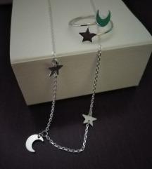 Srebrni prsten, ogrlica, novo