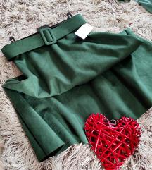 Suknja A kroja od velura, Nova