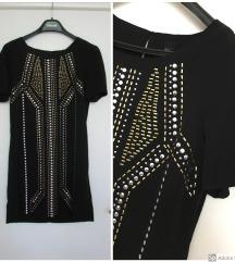 H&M crna haljina sa nitnama M
