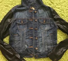 teksas jakna sa koznim rukavima