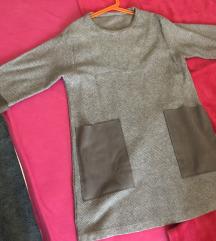Siva Mango haljina