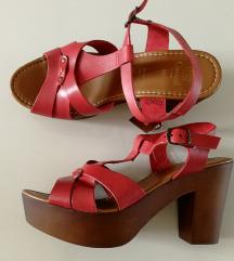 Kozne sandale platforma/stikla