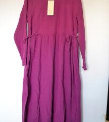 Midi roze haljina NOVO (sa ETIKETOM)