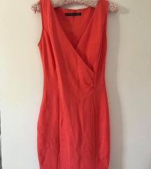 ZARA Koralna mini haljina