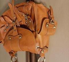 Kožna  braon torba
