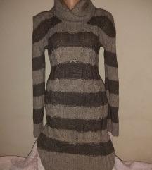 Siva trikotazna haljina vel S
