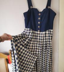 Retro karirana haljina