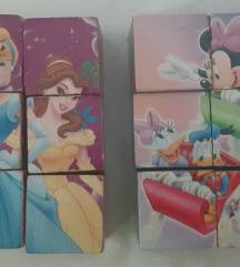 Kockice slagalice Princeze i Miki Maus