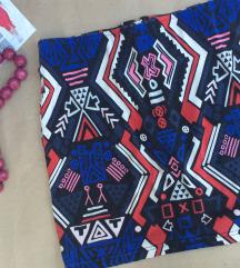 H&M pamucna suknja Zip napred aztec print