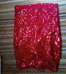Crvena mini suknjica