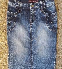 Teksas midi suknja, XS/S