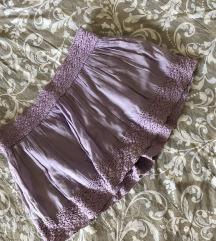 Romantična lila suknjica sa vezom