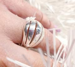 Srebrni prsten Novo 18mm. Stay Home