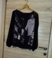 Crna majca sa providnim rukavima