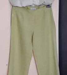 Pantalone, lan 100%, kivi zelene, nisu nošene
