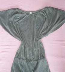 Sjajna srebrna haljina