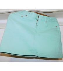 H&m NOVA zelena teksas suknja