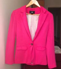 H&M struktirani pink sako