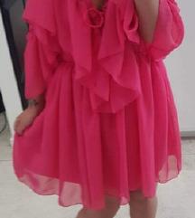 Pink ciklama haljina NOVO