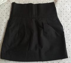 ZARA crna suknja sa džepovima