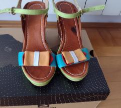 Kožne sandale sa platformombr 38 SNIŽENO
