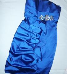 Predivna kraljevsko plava haljinica S