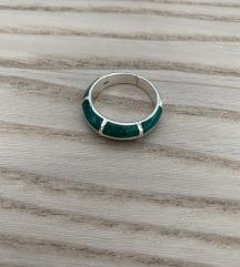 REZERVISAN Srebrni prsten sa emajliranim detaljima
