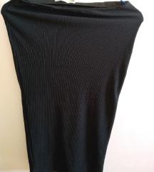 rezzdo8.3. Crna rebrasta midi suknja