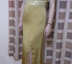 zlatna haljina INVITO