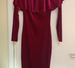 Pink plisana haljina