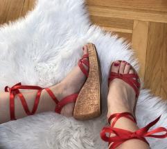 Kožne sandale na vezivanje