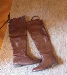 Ravne cizme preko kolena