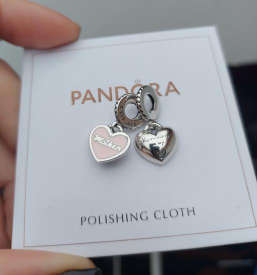 Pandora viseci privezak srca majke i cerke