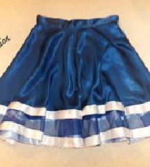 Satenska kraljevsko plava suknja