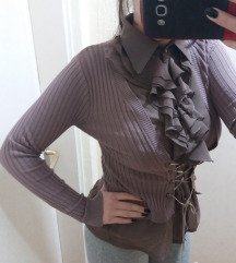 Trikotazna bluza sa karner kragnom