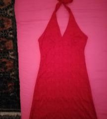 Nova crvena cipkana haljina
