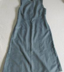 Poslovna duza strukirana haljina bez rukava L