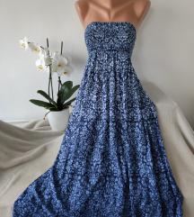 H&M top plava haljina vel L